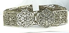 VTG ANTIQUE EUROPEAN 800 or 875 STERLING SILVER LADIES 30 INCH BELT WITH BUCKLE