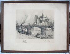 Gravure Originale Signée d'Eugène Delécluse (1882-1972)