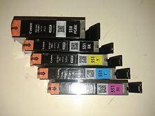 Kit 5 Cartucce Originali CANON PGBK550+551 BK+Y+M+C PER CANON iP7250 MG5550 5650
