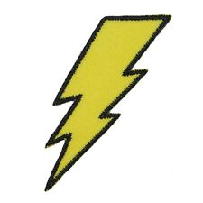 Lightning Bolt Symbol Electric Zap Icon Flash Strike Iron On Applique Patch