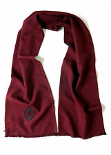 THE KOOPLES BURGUNDY WOOL BLACK SILK LINED SCARF *BRAND NEW* RRP £125.99