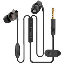 BLACK IN EAR HEADPHONE EARPHONE WITH MIC FOR NOKIA LUMIA 930 630 DUAL 635 525