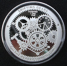 T.I.M.E. Series - Shifting Gears - 1 oz .999 Silver Proof-Like Bullion Round