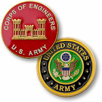 US Army Corps of Engineers Challenge Coin Castle Seal USACE COE ACE Vessel Flag
