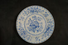 Set of 4 Ridgway & Morley Nankin Jar Pattern Blue Transferware Plates C. 1840s