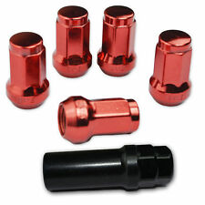 16 PC RED STEEL CLOSED-END LOCKING HEPTAGON LUG NUTS FOR WHEELS/RIMS 12X1.5 C