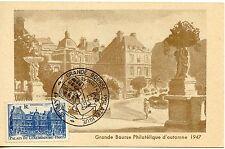 CARTE POSTALE / GRANDE BOURSE PHILATELIQUE D'AUTOMME 1947 PARIS