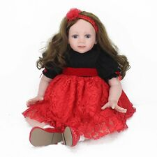 24'' Reborn Toddler Doll 60cm Big Girl Soft Vinyl lovely Long hair Babies Toys