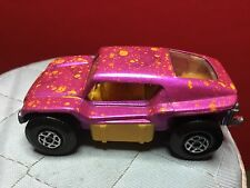 VINTAGE 1971 LESNEY MATCHBOX SUPERFAST #30-B PINK BEACH BUGGY IN VN CONDITION