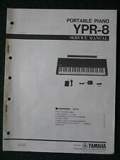 Yamaha Portable Piano YPR-8 Service Shop Manual Schematics Parts List YPR8 1985