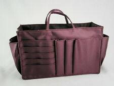 Lady Handbag Purse Tote Bag Organizer Insert Divider Item #J6-Burgundy