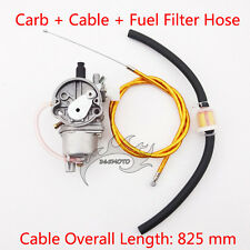 Carby Carburetor Gas Throttle Cable Fuel Filter For 47 49cc Minimoto Pocket Bike