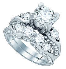 Sterling Silver Bridal Ring Set Engagement and Weddings Band Cubic Zirconia