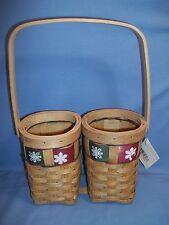 """Christmas Wicker Gift Basket  Holds 2 Beverage Liquor Bottles Never Used 13"""""""