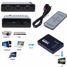 5 Port 1080P Video HDMI Switch Switcher Splitter for HDTV PS3 DVD + IR Remote LY