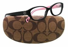 Coach Cecilia Womens Eyeglasses HC 6002 5053 Black Frame New 51mm ORIGINAL CASE