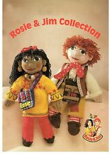 rosie and jim toy collection sweaters hat scarf and mitts dk knitting pattern