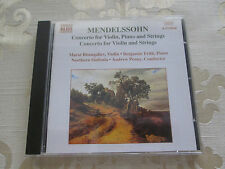 MENDELSSOHN CONCERTO FOR VIOLIN PIANO & STRINGS NORTHERN SINFONIA ANDREW PENNY
