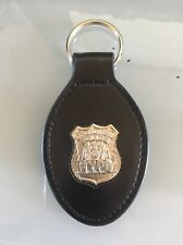 NYC Police Leather Key Ring - NYPD Police Mini Badge - NYPD PBA - NYPD - PBA
