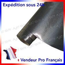 Film Vinyle 4D Carbone 152 X 50 Cm Noire adhésif thermoformable autocollant