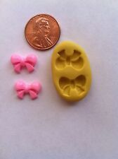 Tiny Bow Flexible Silicone Push Mold for Polymer clay Resin Cnady