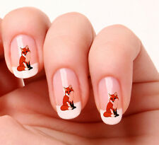20 Nail Art Decals Transfers Stickers #348 - Fox  peel & stick