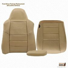 02 03 04 Ford Excursion Limited Lean Back-bottom-armrest LEATHER Seat Cover Tan