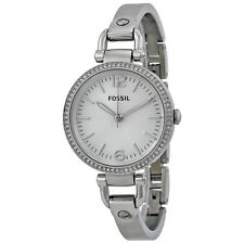 Fossil Georgia Glitz Stainless Steel Bangle Ladies Watch ES3225