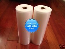 "2 GIANT 11"" x 50' 4 mil Universal Vacuum Sealer Rolls -Make bags -FREE Ship USA!"