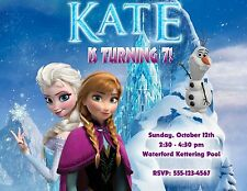 10 ELSA & ANNA FROZEN BIRTHDAY PARTY INVITATIONS