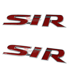3D ABS Trunk Emblem Decal Sticker Badge Chrome Red SIR Logo For Civic EK EG EJ