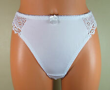 Daniel Axel sexy white sliPpy soft stretchy thong knickers panties Large R14587L