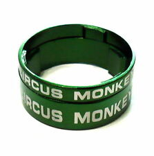 """gobike88 Circus Monkey 1-1/8"""" Alloy Headset Spacer 10+5mm 2pcs, Green, R67"""
