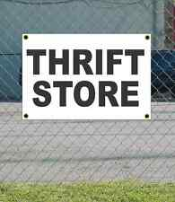 2x3 THRIFT STORE Black & White Banner Sign NEW Discount Size & Price FREE SHIP