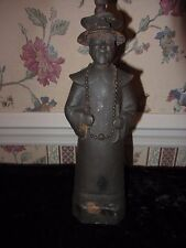 ANTIQUE CAST IRON METAL CHINA OR BURMA BURMESE FIGURINE MONK