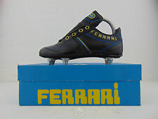 Vintage 80 FERRARI Scarpe Calcio 33 Soccer Shoes Boots Football