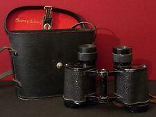 """Antique Sans & Streiffe """"Made in Occupied Japan"""" 8x30mm Binoculars w/ Case"""