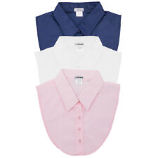 IGotCollared Set of 3 Dickey Collars in Navy, White, Pink