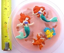 THE LITTLE MERMAID SILICONE MOULD FOR CAKE TOPPERS, CHOCOLATE, CLAY ETC