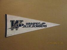 CFL Winnipeg Blue Bombers Vintage 1995 Logo Football Pennant