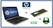 4GB (1x4GB) Memory Ram Upgrade HP Pavilion DV6-3122sa (XD540EA) Laptop/Netbook
