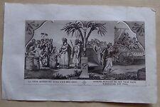 gravure L'ECRITURE SAINTE : coupe retrouvée dans un sac - Joseph - 1827
