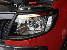 MATTE BLACK FRONT HEAD LAMP LIGHT COVER FOR NEW FORD RANGER T6 2012-2014 PX V.1