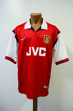 ARSENAL LONDON 1998/1999 JVC HOME FOOTBALL SHIRT JERSEY NIKE ENGLAND VIEIRA ERA