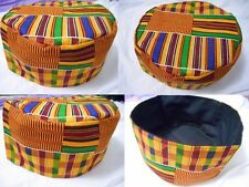 Men Kente Print Dashiki Hippie Boho African Traditional Kufi Hat Cap one Size