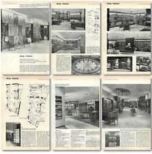 1960 Shop Interior For Austin Reeds Regent Street Design, Plans
