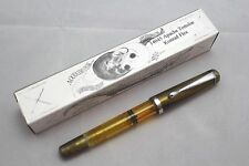 NOODLERS APACHE TORTOISE DEMONSTRATOR KONRAD PISTON FLEX NIB FOUNTAIN PEN