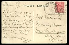 Gold Coast 1911 PPC Native Group + Missionaries 1d with SEKONDEE crown postmark