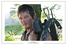NORMAN REEDUS THE WALKING DEAD AUTOGRAPH SIGNED PHOTO PRINT SEASON 1 2 3 4