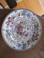 VINTAGE PLATE FLORAL GOLD TRIM  MARKED B WITH A GRIFFIN & LION